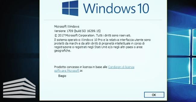 aggiornare windows 10