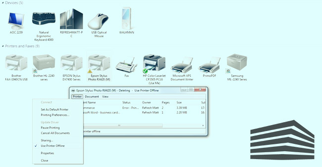 stampante in rete non rilevata