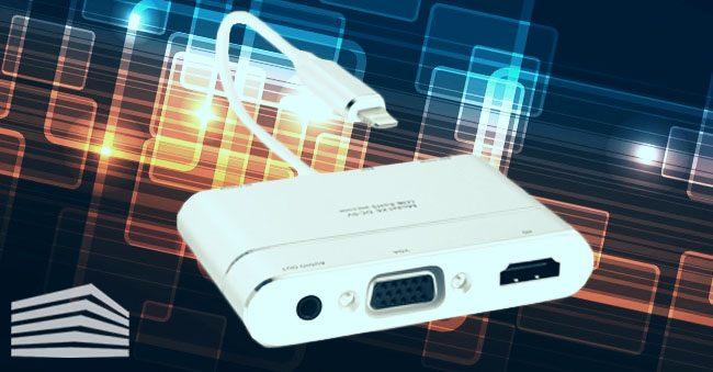 connessione con cavo tra ipad e tv
