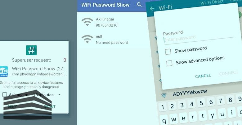 password wifi android