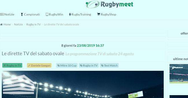 come vedere il rugby